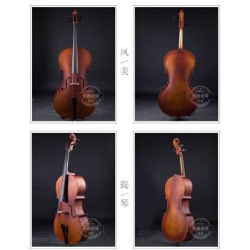 真木手作りビオラ初心者大人チェロ楽隊が演奏する天然タイガー楽器4/4は身長155 cm以上に適しています。