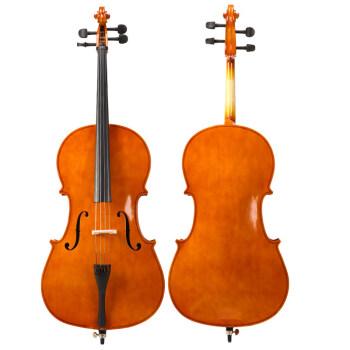 手作りのピカピカチェロ初心者の練習は大人の子供の試験用楽器を演奏します。