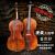 高档手工大提琴虎纹专业级演奏大提琴儿童初学练习大提琴 天然虎纹1/ 8适合身高105-115左右